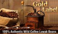 Kopi Luwak Gold Label - Benkulu/Western Sumatra (100g)